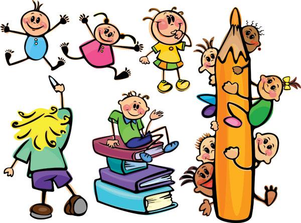 Os alunos, lápis, livro