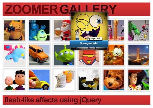 Имитация, основанные на jQuery кодекса флэш-фотоальбом для увеличения