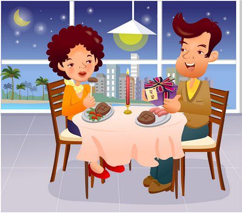 illustrator de familia animada iClickart vector material -16