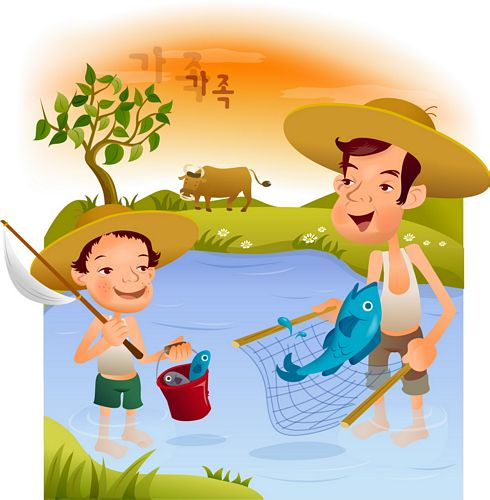iClickart Cartoon Familie Illustrator Vektor materiell-7
