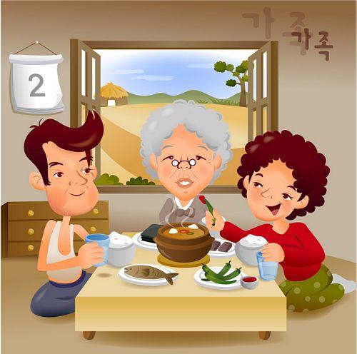 illustrator de familia animada iClickart vector material -5