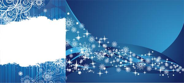 Vetor de plano de fundo azul floco de neve