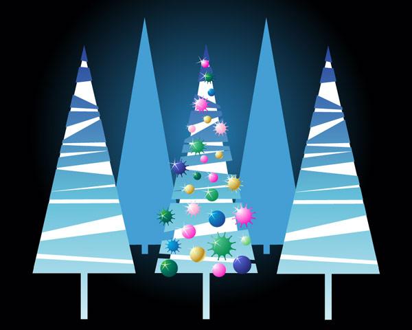 Прекрасная Рождественская елка векторного материала