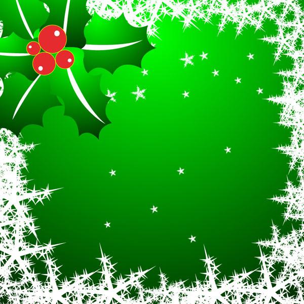 Copos de nieve, estrellas, vector de agujas de pino
