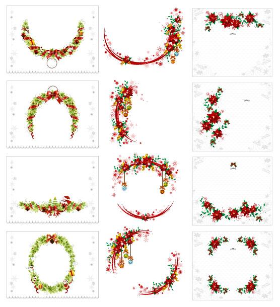 Рождественский венок вектор