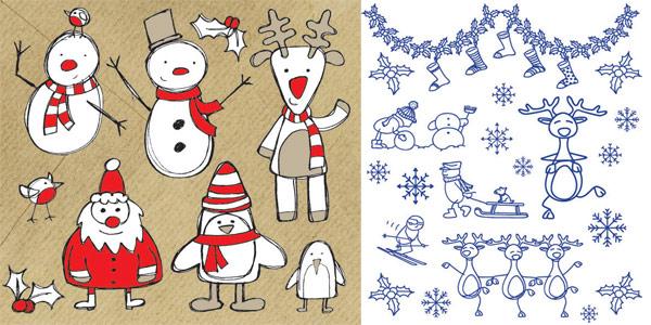 Лось, носки, bib, шарф, лыжи, украшение вектор