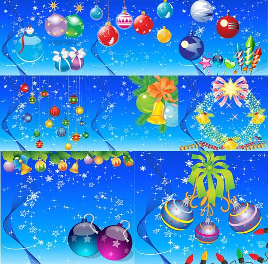 Santa Claus, socks, pendurado bolas, esquis, anjo, velas