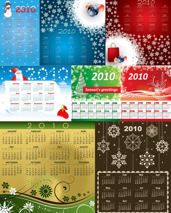 vetor de modelo de calendário 2010