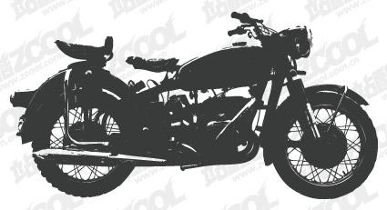 Matériau de vecteur de silhouettes moto