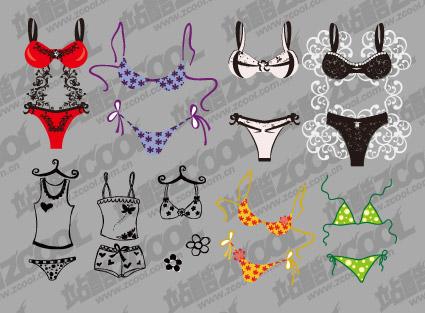 Material de vector lindo bikini
