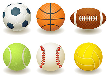 ฟุตบอล บาสเกตบอล รัคบี้ เทนนิส เบสบอล วอลเลย์บอลเวกเตอร์วัสดุ