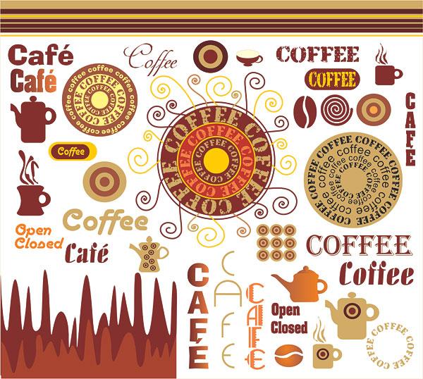 Matériau de vecteur Art café