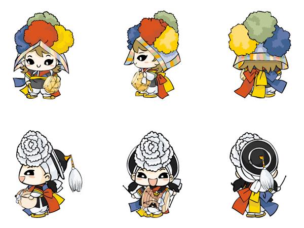 Vector de muñeco de dibujos animados de Corea del sur