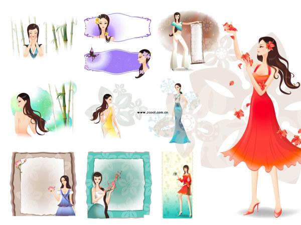 Las fronteras del clásico flor de belleza clásica + serie 2 (11 P)