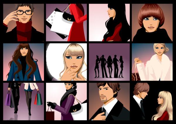 Модные материал вектор функция мужчин и женщин