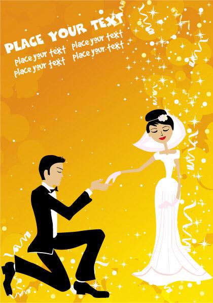 結婚式のベクター素材