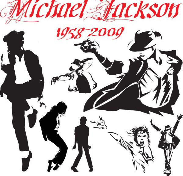 Material de vectores de acción clásico de Michael Jackson