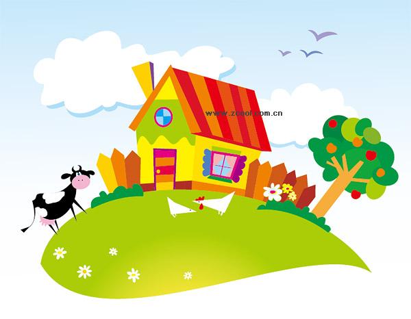Palabras clave: Granja, país, casa, vaca, gallina, Gallo, Manzano ...