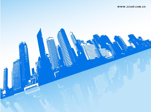建築、都市、航空機ベクトル