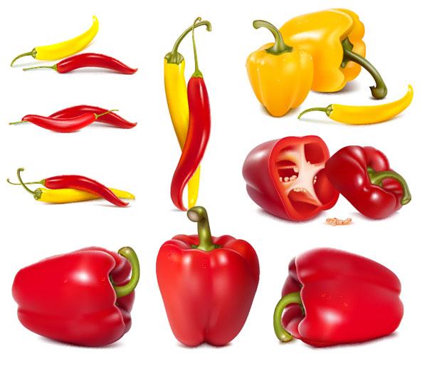 cpepper, verduras, vector de pimientos