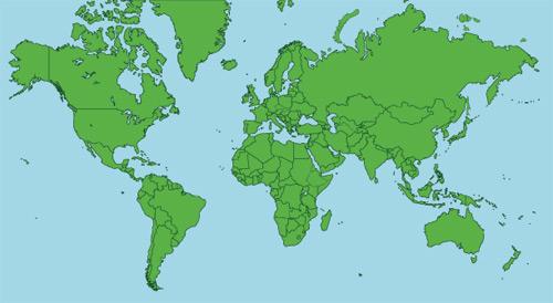 Карта мира вектор