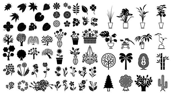ดอกไม้และต้นไม้ โรงงานไม้ไผ่ประดับพืช