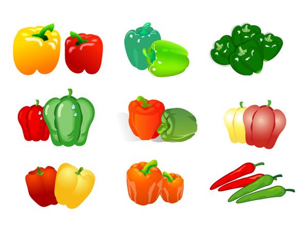 野菜のベクトル - コショウ