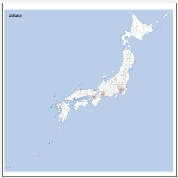 Carte Japon + vecteur de réseau de chemin de fer