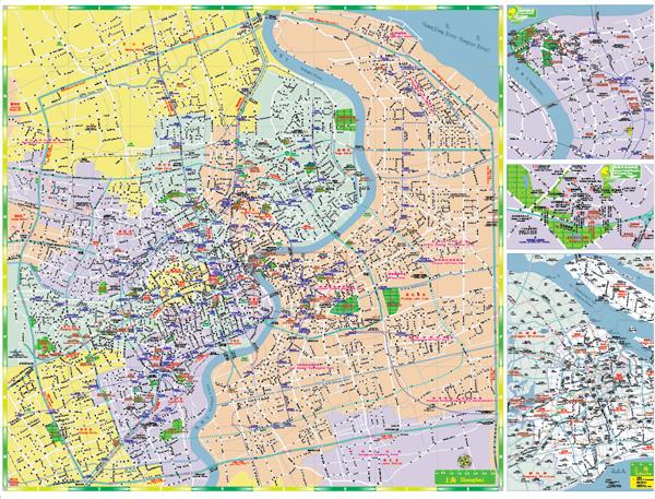 Mapa de vetor de Xangai