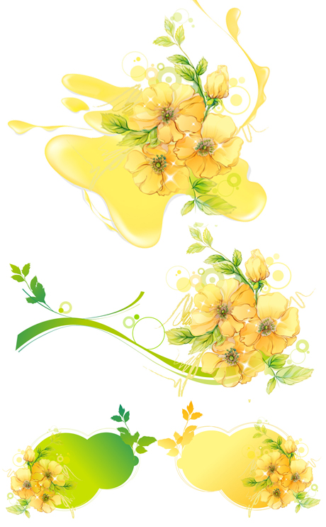 eau de feuilles de fleurs de taches de matériau de vecteur de mosaïque