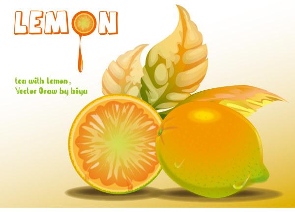 Zitrone-Vektor-Material