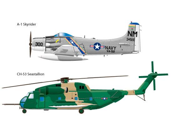 軍用機のベクター素材