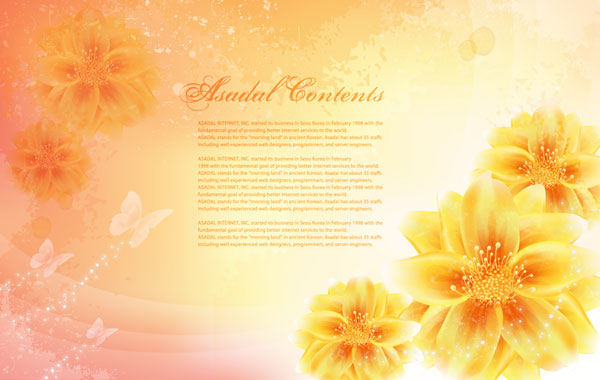वेक्टर काल्पनिक फूल सामग्री -14