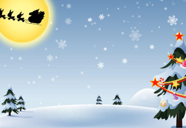 Vector natal neve