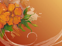 花の手描き素材 2 ベクトルします。