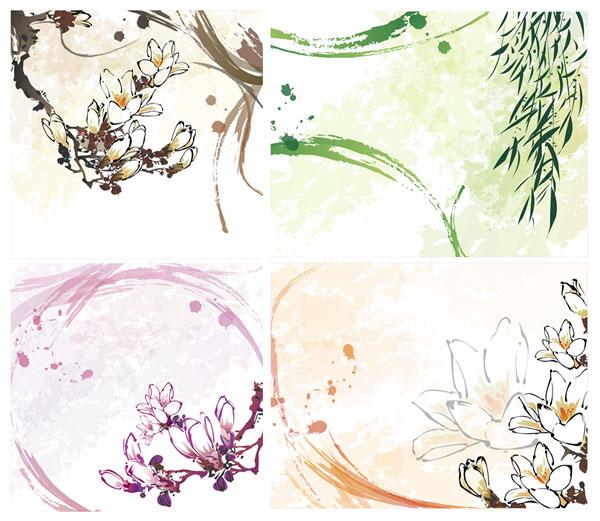 カポック、柳、柳の花のベクトル