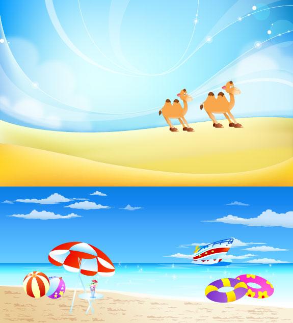 ทะเลทราย อูฐ ทราย แดดร่ม buoy