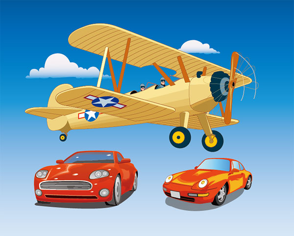 Vehículo impulsado por el Vector Material��Propeller aviones y autos deportivos