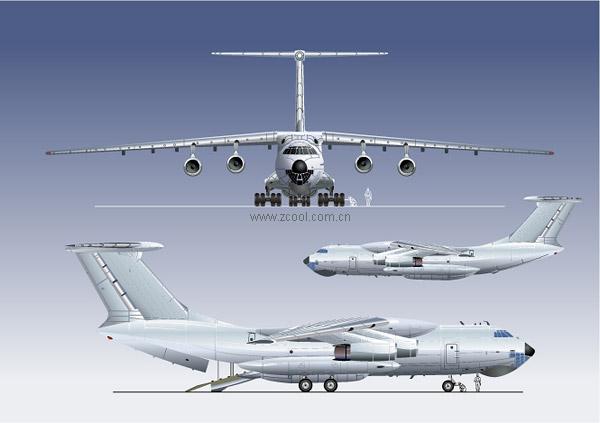 乗用車の航空機のベクター素材
