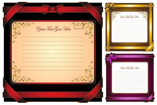 Material de vectores de tarjetas de felicitación de vacaciones