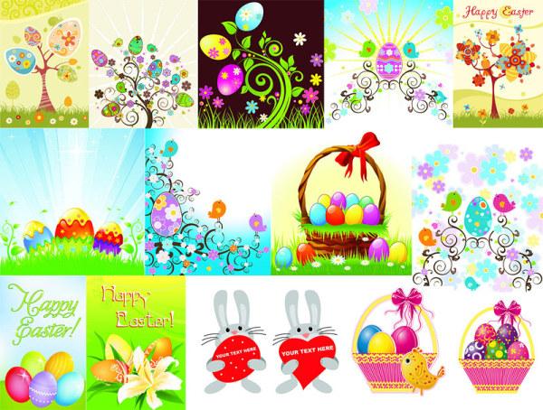 Huevo de Pascua serie vector material