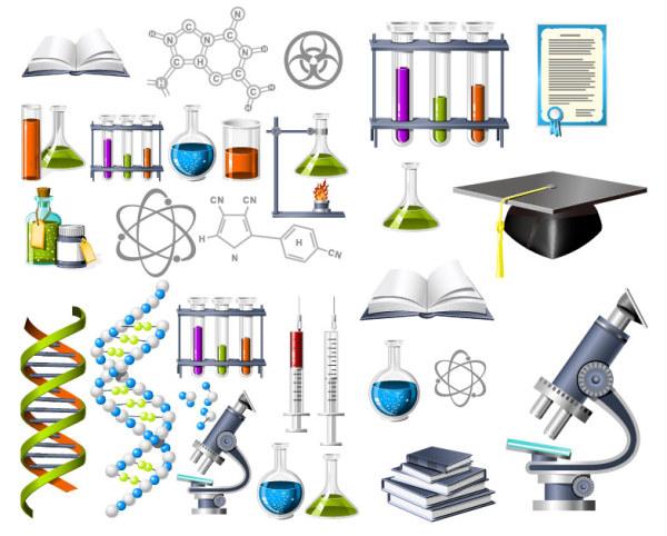 Биохимия тема значок векторного материала