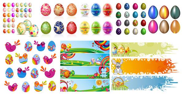 Пасхальные яйца особенностью векторного материала
