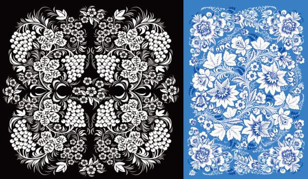 2 아름 다운 패턴 벡터 자료