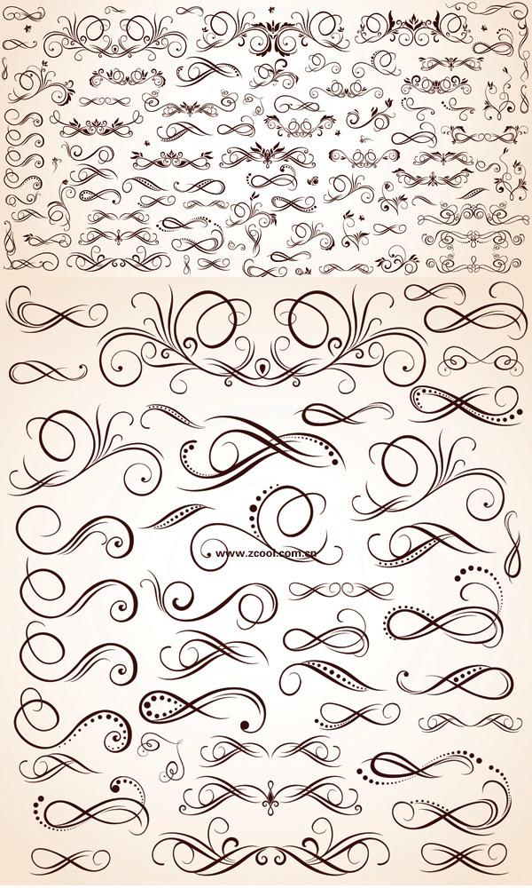 다양 한 패턴 요소 벡터 소재
