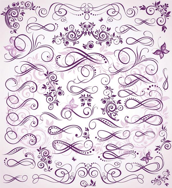 紫色の微細パターン ベクトル材料