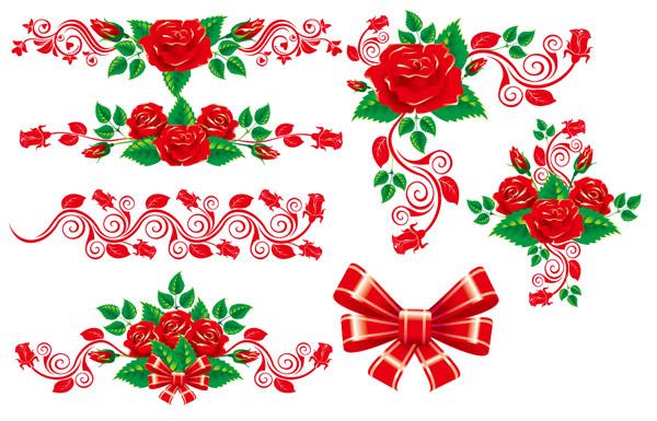 Hermoso encaje Rosa material de vectores