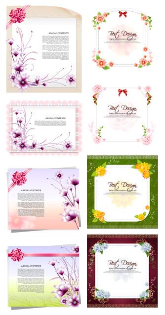 Flores de papel, cinta de material de vectores