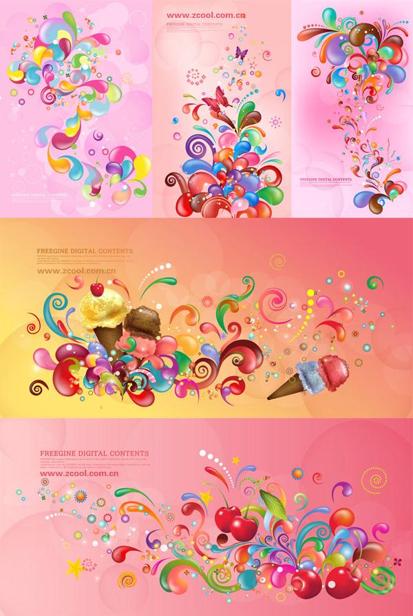 Красочные вектор текущее дело серии - розовый (5 П)