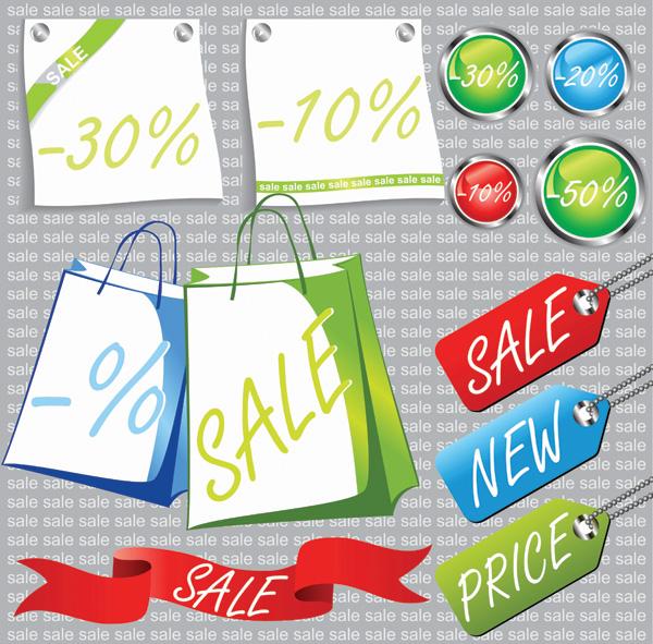 Vector de precios relacionados con materiales promocionales